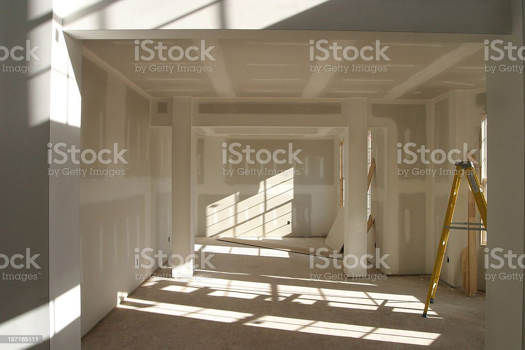 Drywall Room stock photo