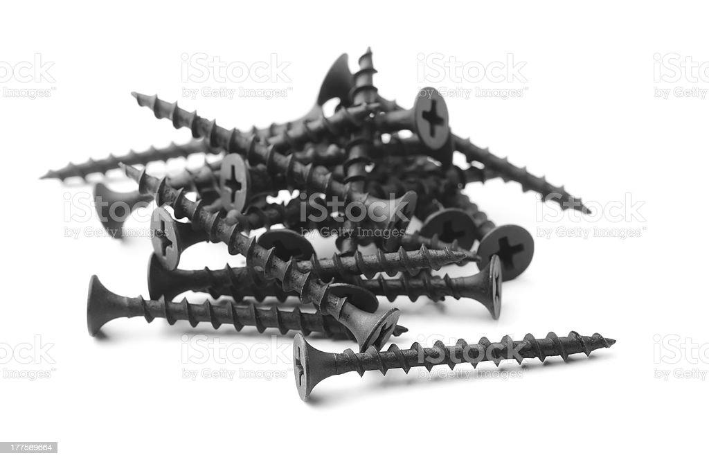 Drywall screws stock photo