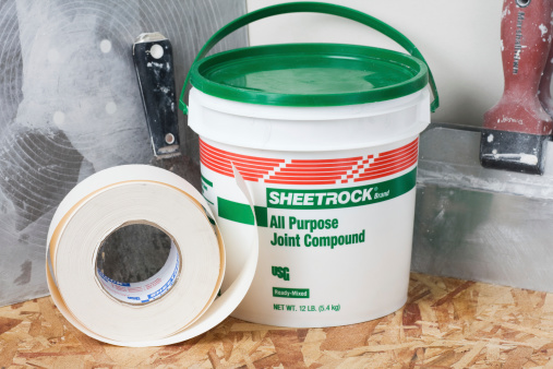 Drywall Supplies And Tools Stock Photo - Download Image Now