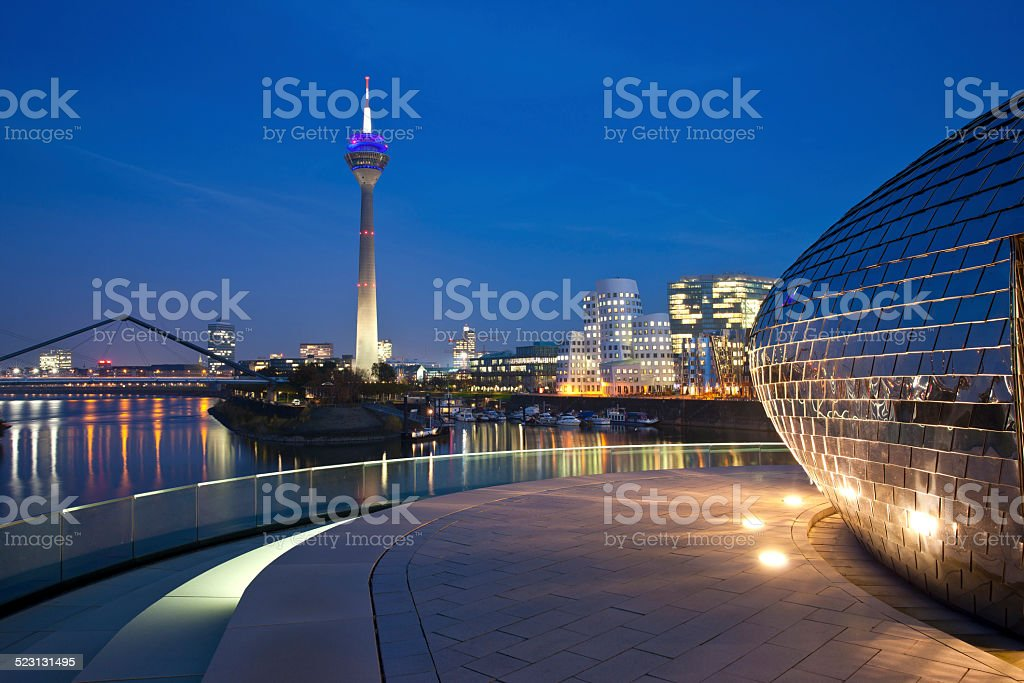 Düsseldorf Harbor, Germany stock photo