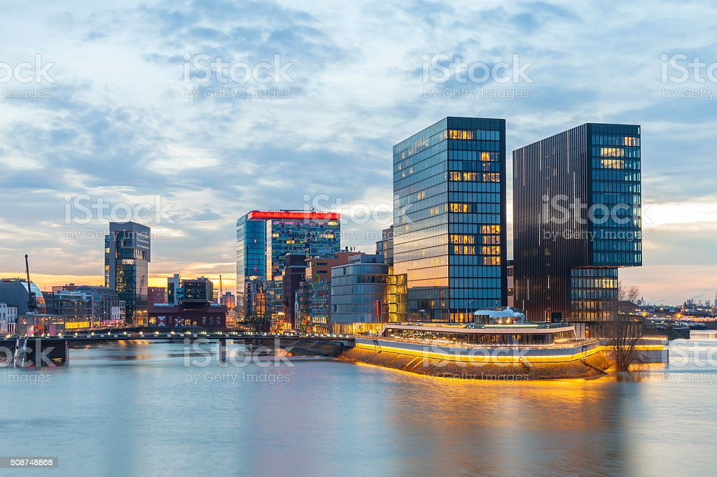 Düsseldorf Media Harbor, Germany stock photo