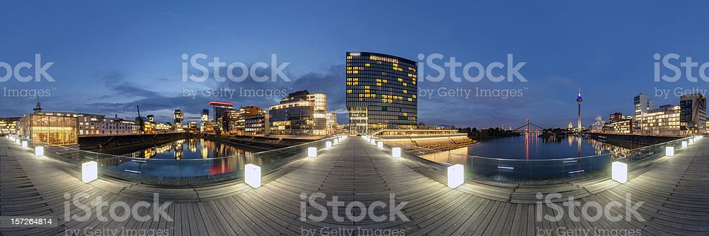 Düsseldorf panorama stock photo