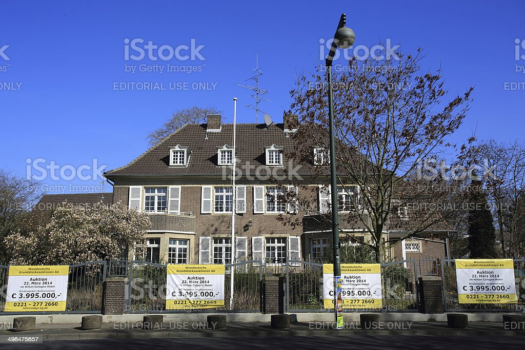 Düsseldorf Real Estate Auction stock photo
