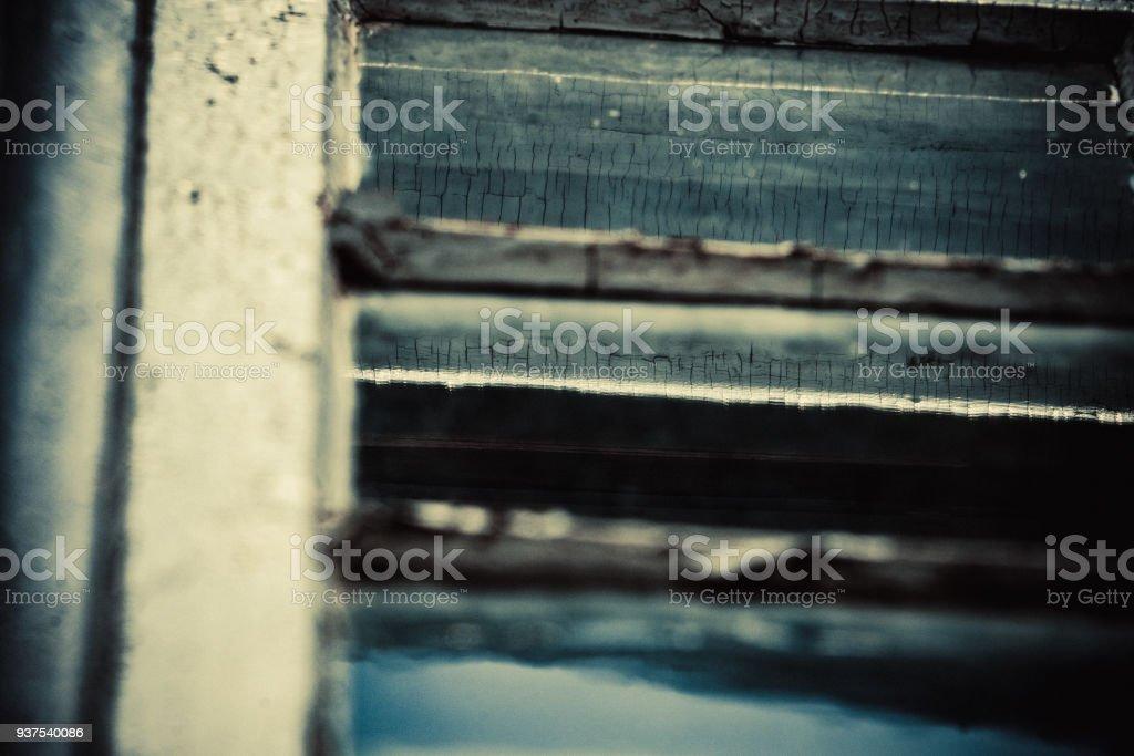 Détails d'une fenêtre ancienne. stock photo