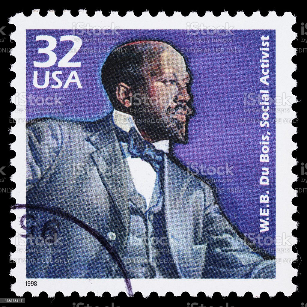 USA W.E.B. Du Bois postage stamp stock photo