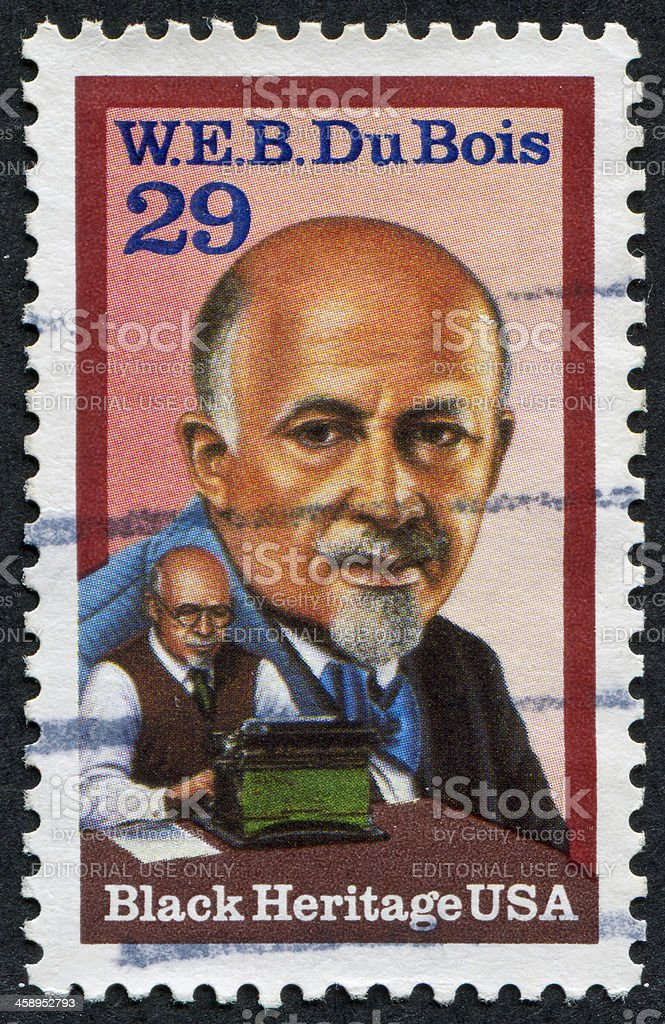 W.E.B. Du Bois Stamp stock photo