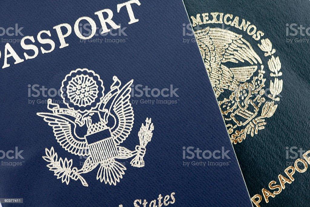 Dual Citizenship: Two Passports royalty-free stock photo