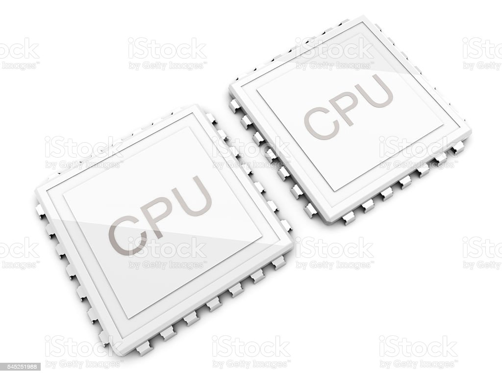 Dual core CPU stock photo
