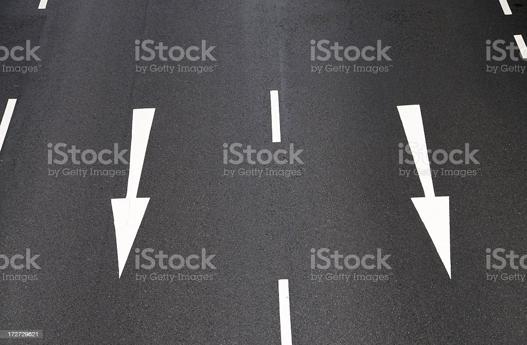 Dual Lanes royalty-free stock photo