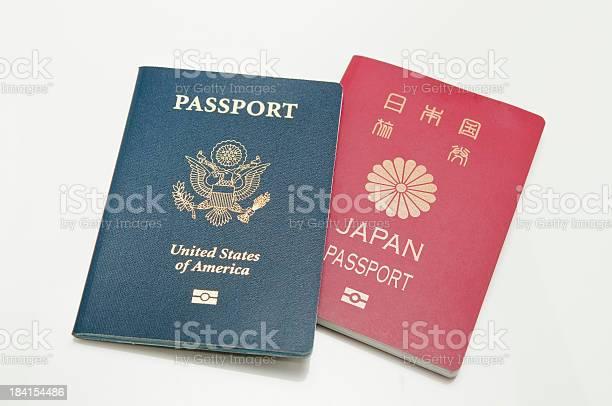 Zwei Pässe Stockfoto und mehr Bilder von Auswanderung und Einwanderung