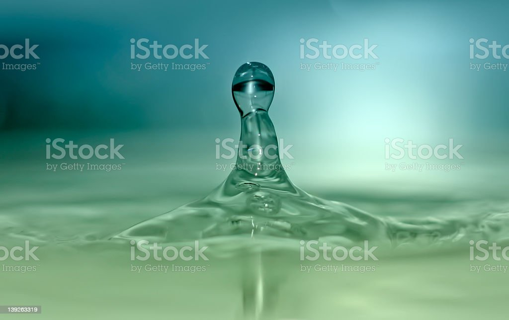 Dual Tone Water Drop royalty-free stock photo