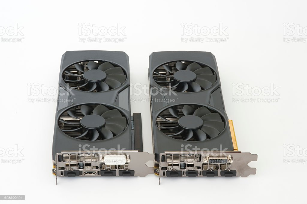 Dual Video Cards stock photo