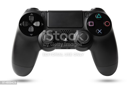 Istanbul, Turkei - March 17, 2014: DualShock 4 Wireless Controller for PlayStation 4