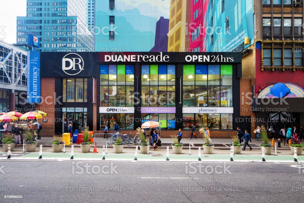 Duane Reade drug store in Manhattan New-York City stock photo
