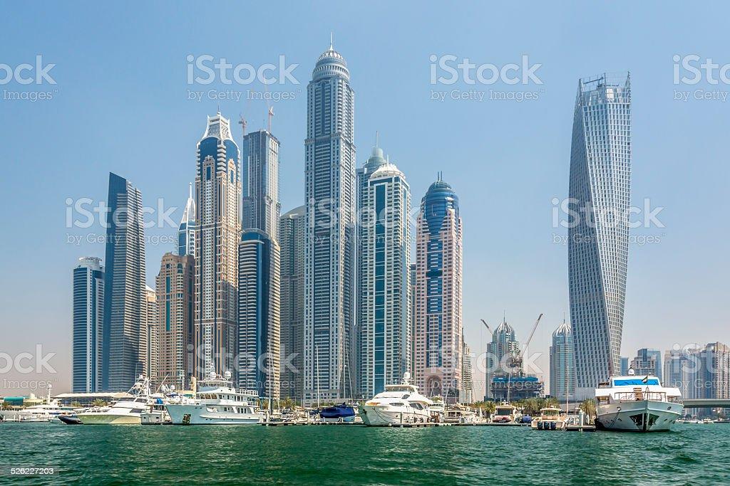 Dubaï marina skyline stock photo