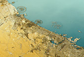 Dubai 3D Landscape View East-West Natural Color