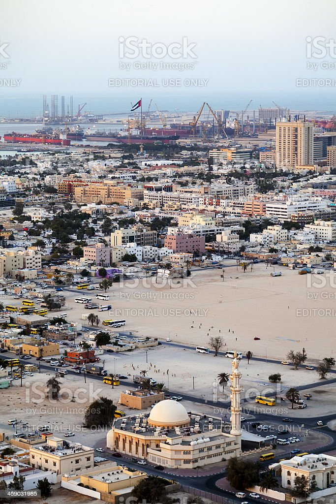 Dubai, aerial royalty-free stock photo