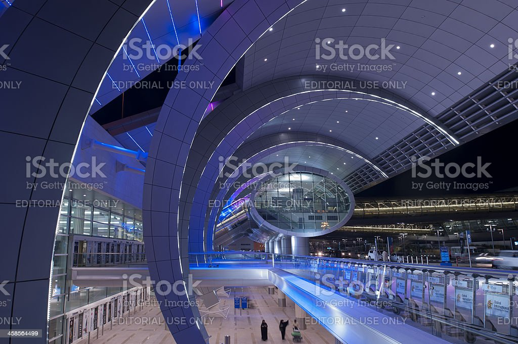 Dubai Airport royalty-free stock photo