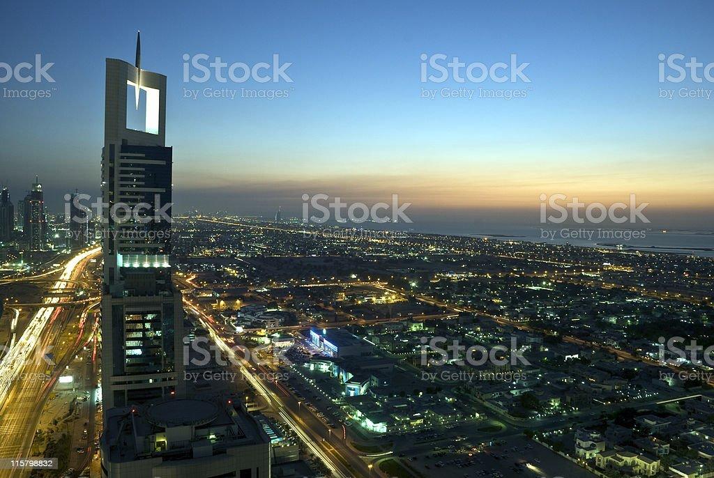 Dubai at night stock photo