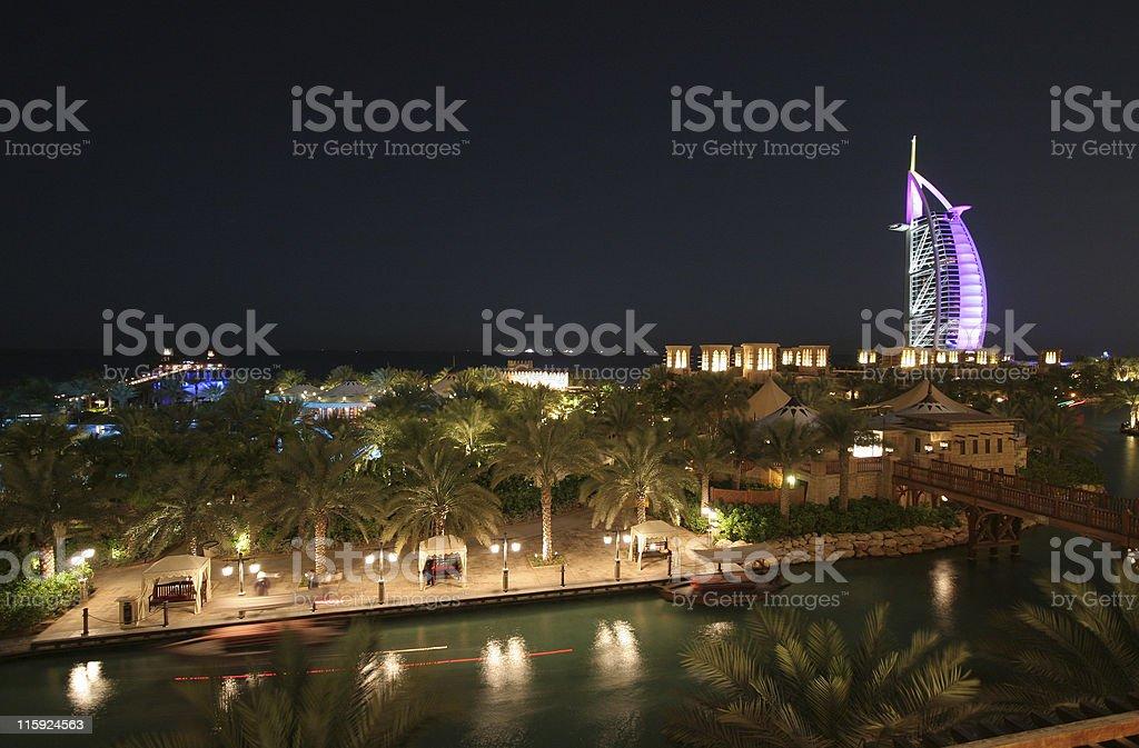 Dubai at night royalty-free stock photo