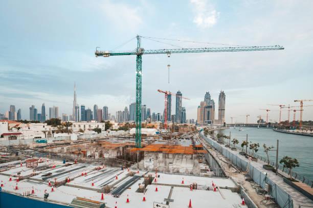 Dubai buildings stock photo