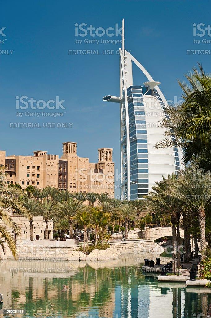 Dubai Burj Al Arab luxury hotel resort UAE royalty-free stock photo