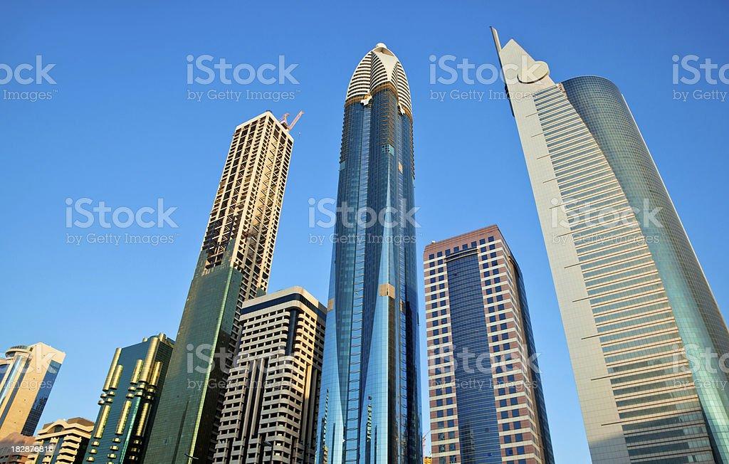 Dubai Business Tower royalty-free stock photo