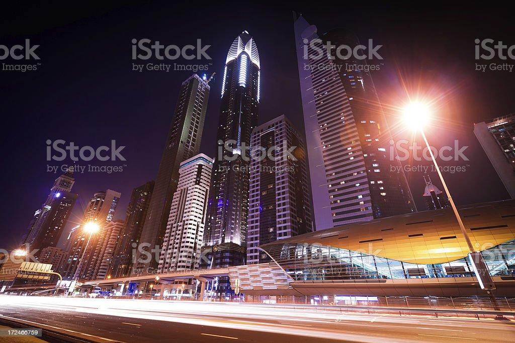 Dubai City at night royalty-free stock photo