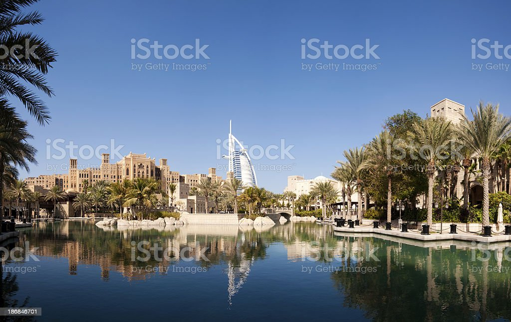 Dubai City Skyline in the United Arab Emirates stock photo