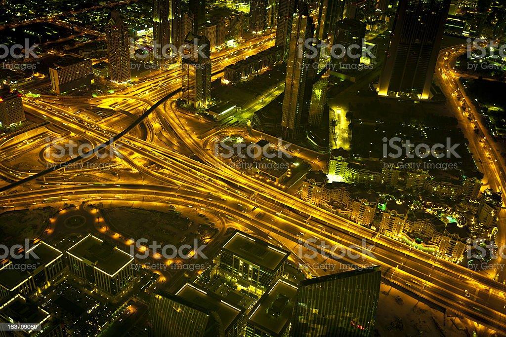 dubai city traffic royalty-free stock photo