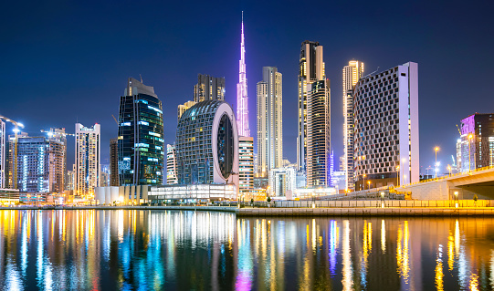 Dubai city ultramodern skyline, United Arab Emirates