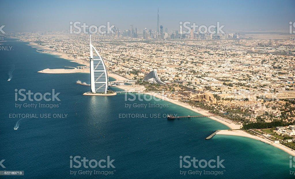 Dubai coastline stock photo