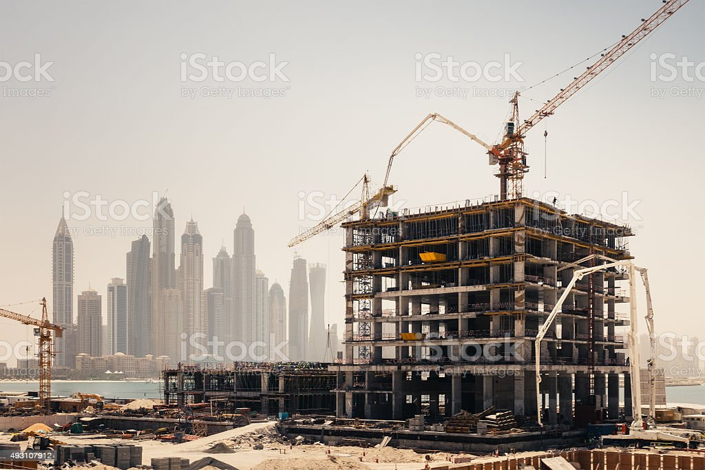 dubai construction stock photo more pictures of 2015 istock. Black Bedroom Furniture Sets. Home Design Ideas