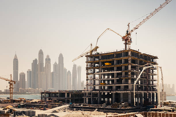 Dubai Construction stock photo
