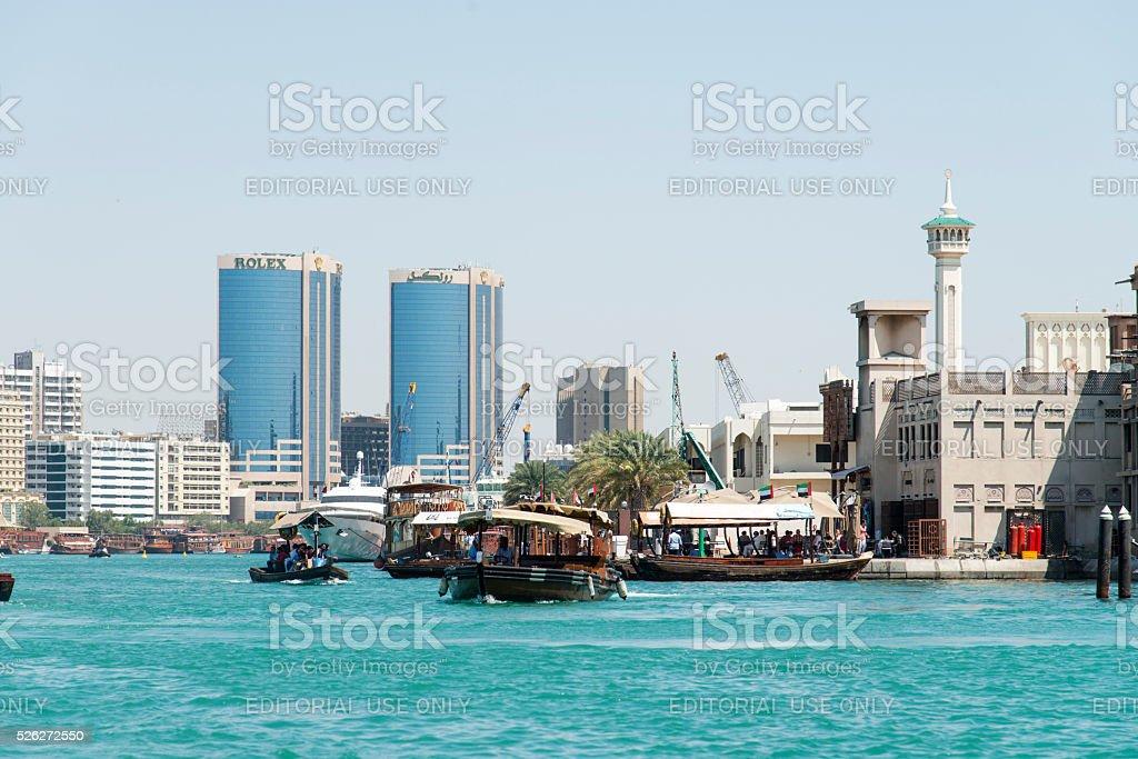 Dubai Creek stock photo