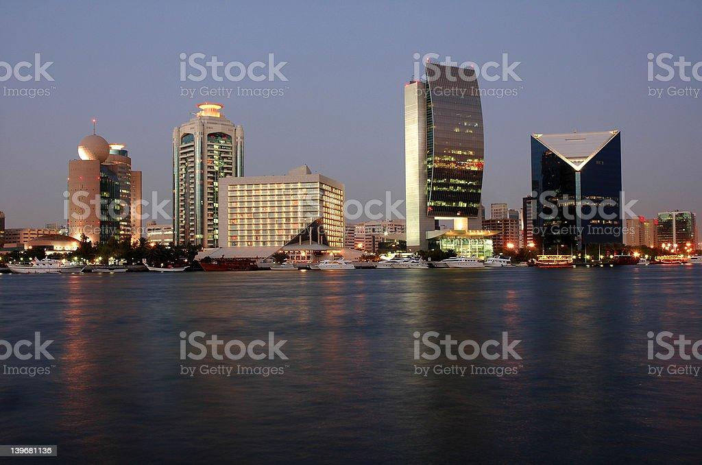 Dubai Creek Skyline royalty-free stock photo
