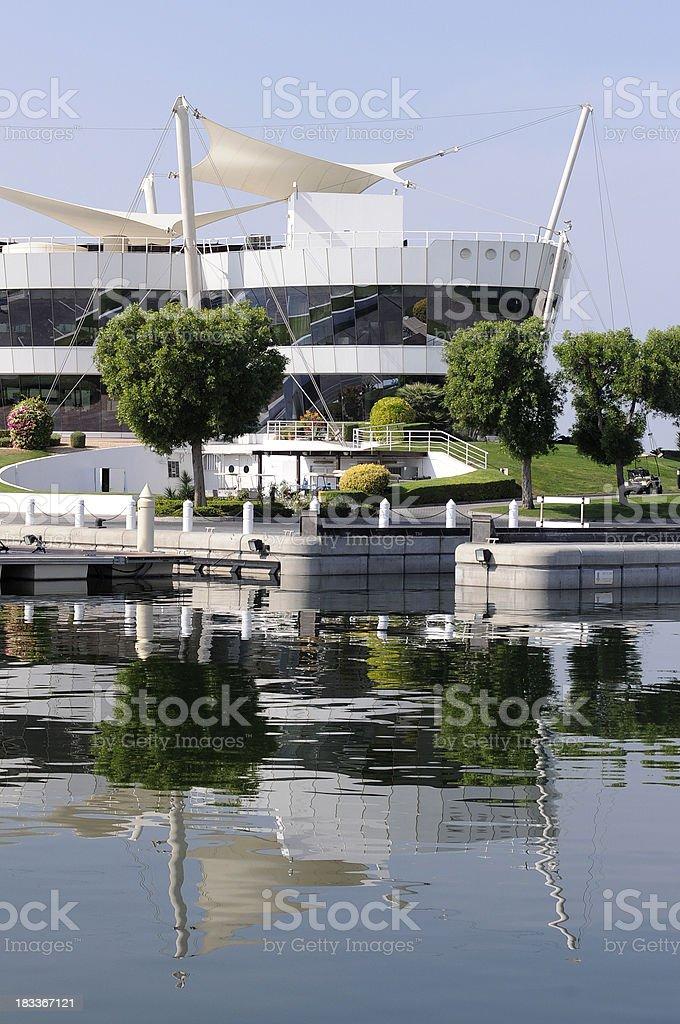 Dubai Creek Yacht Club stock photo
