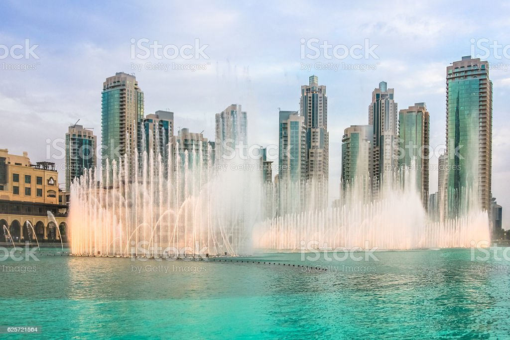 Dubai Dancing Fountain stock photo