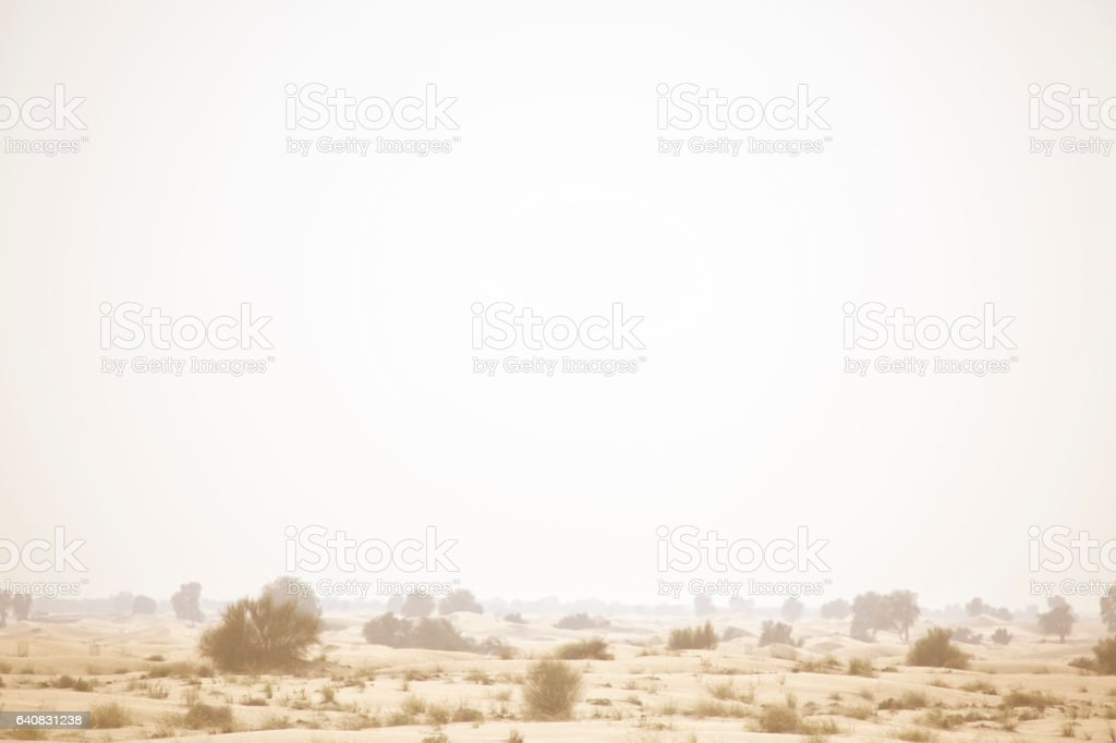 Dubai desert stock photo