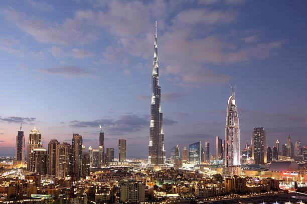 Dubai Innenstadt in der Dämmerung – Foto