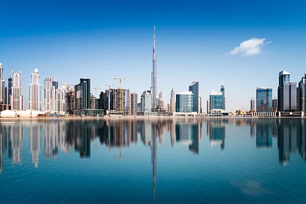 Dubai Downtown Dubai skyline, United Arab Emirates burj khalifa stock pictures, royalty-free photos & images
