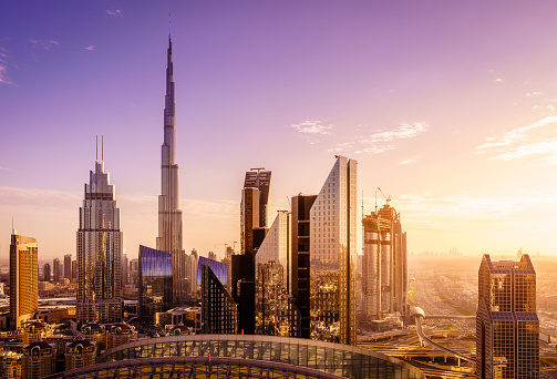 Dubai Downtown Skyline Stock Photo - Download Image Now