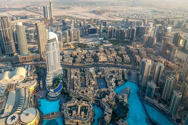 dubai downtown, united arab emirates stock photo