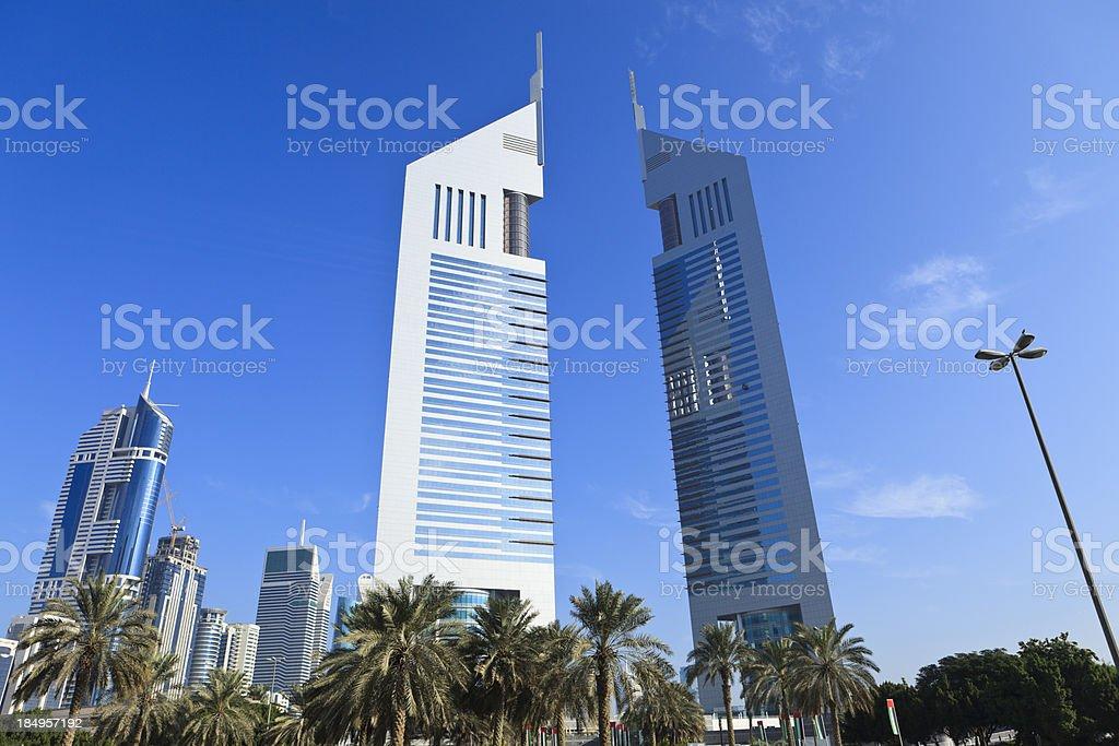 Dubai - Emirates Towers stock photo