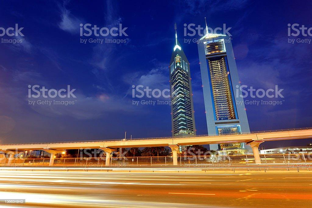 dubai fast track stock photo