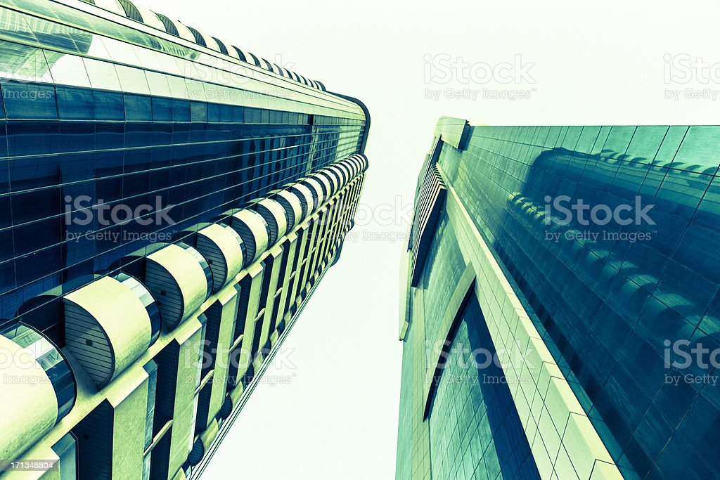 Dubai Financial Buildings Skyscraper Downtown royalty-free stock photo