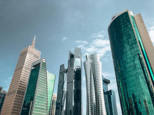 dubai financial district stock photo