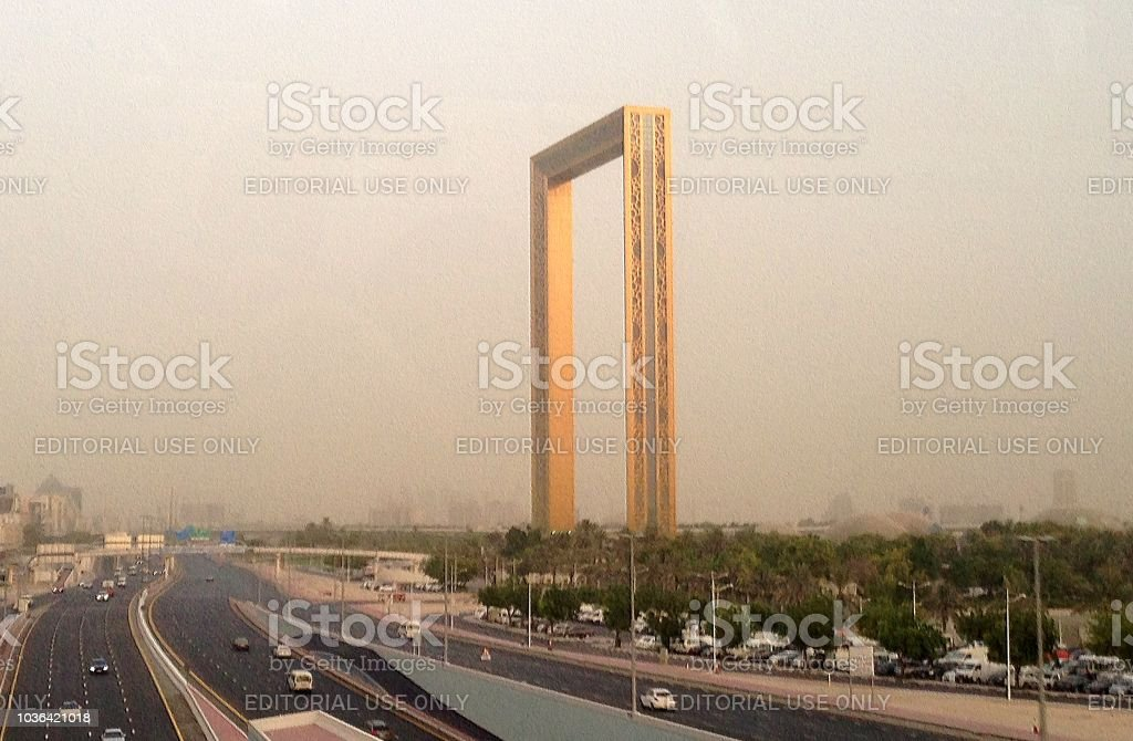 Dubai Frame, UAE stock photo