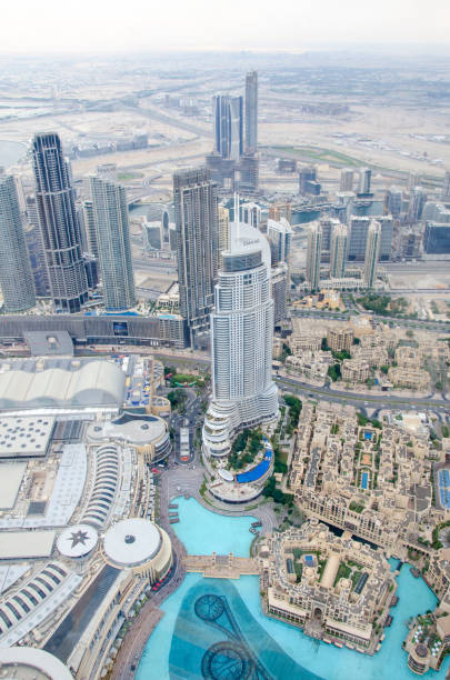Dubai from above stock photo