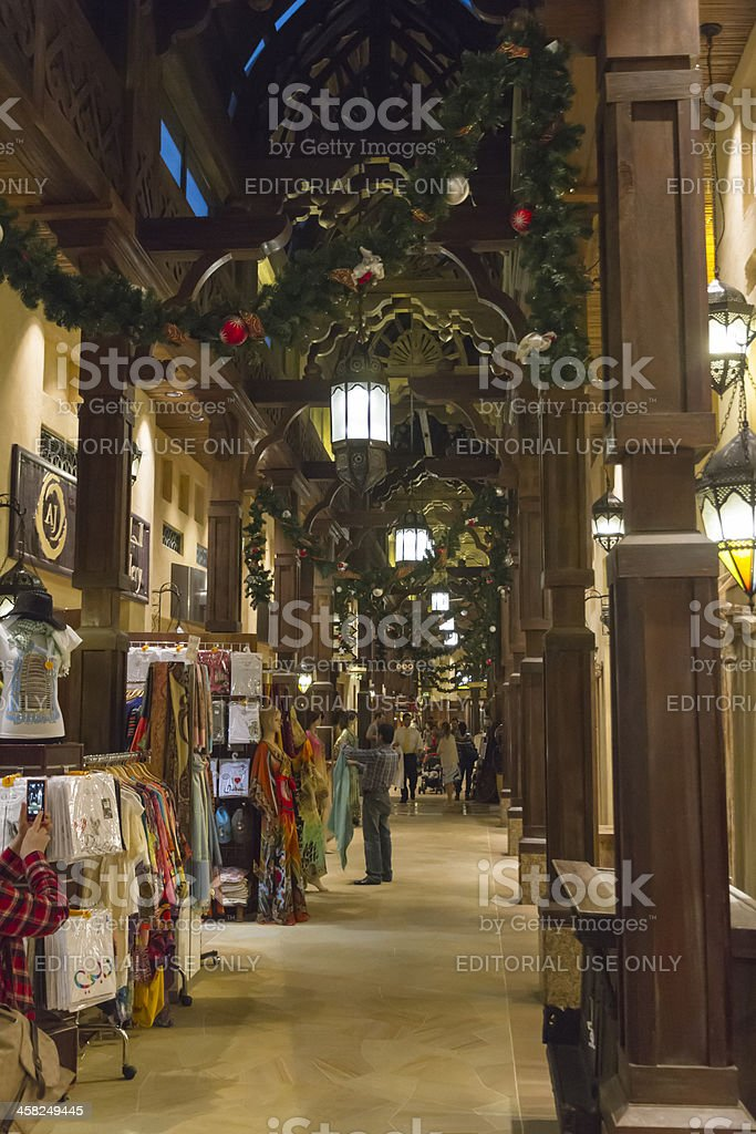 Dubai - internal view of Madinat Souk stock photo